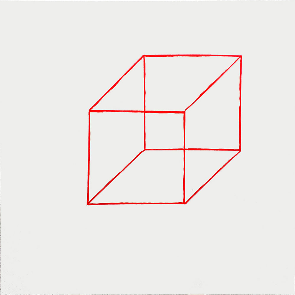 Cubo rojo, 2015 - pinturas