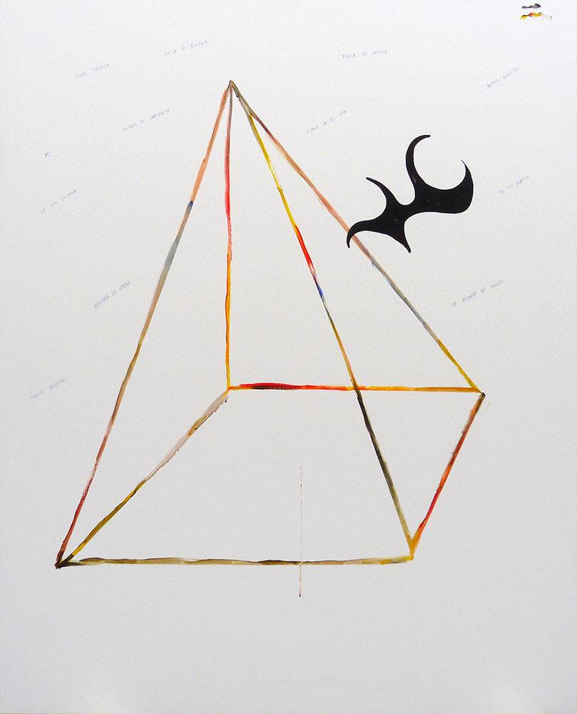 Pirámide-Nombres flamencos, 2016 - pinturas